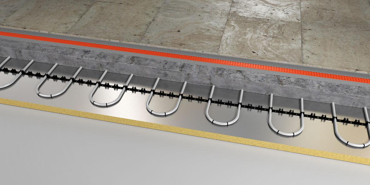 underfloor heating cross section